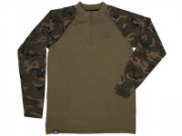 Bluza Fox Chunk Long Sleeve Zipped Top Khaki-Camo