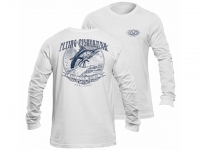 Flying Fisherman Tradition White Long Sleeve Tee
