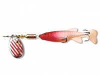 Rotativa cu Shad Zebco Minnow Flyer Silver/Red