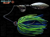 Spinnerbait Berti Shallow Killer 11g Colorado-Salcie / Blue Chartreuse