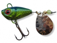 Spinnertail Berti Fishelic nr.4 Nickel / Blue Chartreuse
