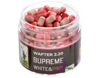 220 Baits Supreme 4mm Wafters White and Pink