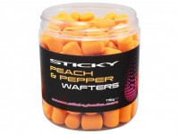 Boilies de carlig Sticky Wafters Peach & Pepper
