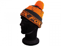 Fox Black and Orange Lined Bobble
