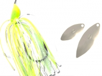 Colmic Spinnerbait Flatter Chartreuse/White
