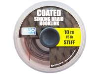 Fir Asso Coated Stiff Sinking Braid Hooklink 10m