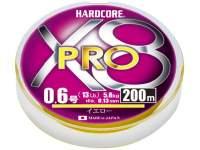 Fir textil Duel Hardcore X8 Pro 200m Yellow