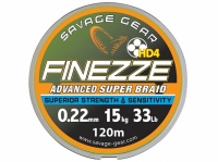 Fir textil Savage Gear Finezze HD4 Braid Yellow
