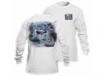 Flying Fisherman Midnight Angler Pirate White Long Sleeve Tee