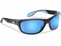 Ochelari Flying Fisherman Cayo Matte Black Smoke Blue Mirror