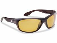 Flying Fisherman Cayo Matte Bronze Yellow Amber Sunglasses