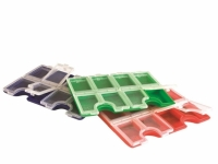 Preston Magnetic Hook Box 8 Comp (Red, Blue, Green)