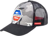 Favorite Gray-Camo / Red-Blue Logo 58 Cap