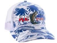 Sapca Relax Trucker Cap White Blue Palm