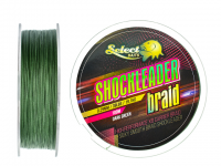 Select Baits fir textil Shockleader X8 Braid Dark Green 100m