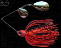 Spinnerbait Berti Gigant B&S Colorado / Indiana 17g Orange Negru Rosu