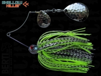 Spinnerbait Berti Shallow Killer 11g Colorado / White-Black Chartreuse