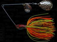 Spinnerbait Berti Skirt 14g Colorado Orange-Chartreuse