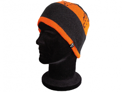 Caciula Fox Black and Orange Beanie
