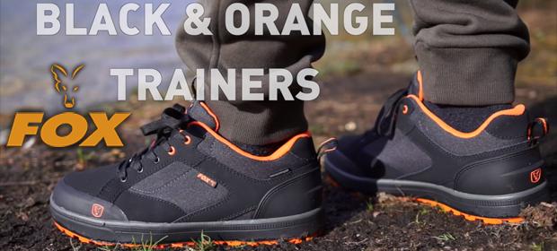 Fox Black Orange Trainers
